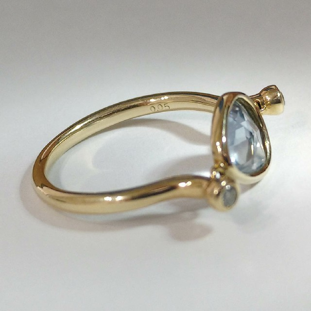 非加熱サファイア k10 ローズカット スライス リング レディースのアクセサリー(リング(指輪))の商品写真