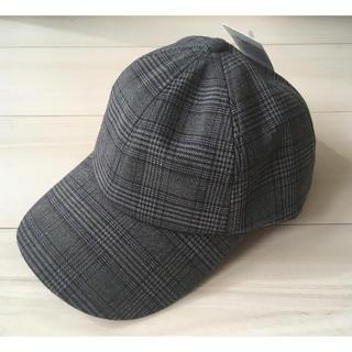 GU - 新品◆19AW GU ローキャップ チェック 帽子