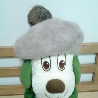 アースミュージックアンドエコロジー(earth music & ecology)の新品 アンゴラベレー帽 アース(ハンチング/ベレー帽)