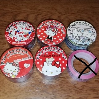 ハローキティ(ハローキティ)のラッピングテープ キティちゃん 5種類(テープ/マスキングテープ)