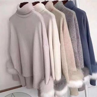 リランドチュール(Rirandture)のファー付きセーター(ニット/セーター)