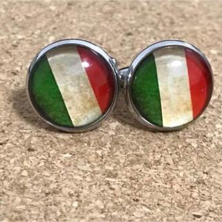 即日発送!ヴィンテージ  イタリア 国旗 カフス カフスボタン