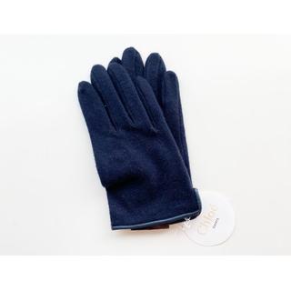 クロエ(Chloe)の【送料無料】Chloe クロエ 手袋 正規品 新品 未使用 ネイビー/紺色 (手袋)