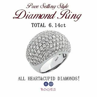 ダイヤ リング ファッション プラチナ 6ct  新品 ハート&キューピッド!(リング(指輪))
