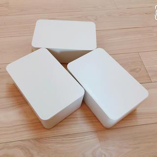 ムジルシリョウヒン(MUJI (無印良品))の無印良品 ウェットシートケース  3個(ティッシュボックス)