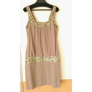 リトルニューヨーク(Little New York)のLittle NewYork ドレス ベージュ(ミディアムドレス)