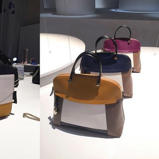 フルラ(Furla)の美品本物⭐️フルラ ブロックデザイン パイパーレザーハンドバッグ(ハンドバッグ)