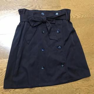 ケービーエフ(KBF)のKBF ブラウン トレンチスカート(ひざ丈スカート)