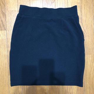 LOWRYS FARM -  LOWRYS FARM ブラック ミニ スカート  サイズ フリー