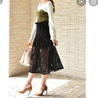 リリーブラウン(Lily Brown)のフロッキーラップ風スカートショートパンツ(ショートパンツ)