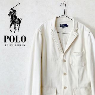 ポロラルフローレン(POLO RALPH LAUREN)のスウェットジャケット Polo Ralph Laulen US古着 90s レア(テーラードジャケット)
