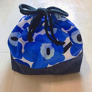 marimekko - marimekko マリメッコ お弁当袋 巾着袋 花柄 ハンドメイド