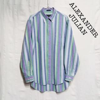 ALEXANDER JULIAN COLOURS マルチストライプ BDシャツ(シャツ)