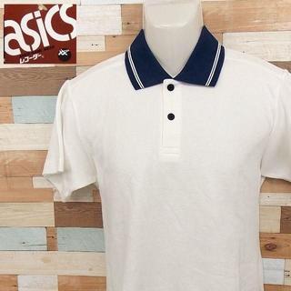 アシックス(asics)の【ASICS】 美品 タグ付き アシックス ホワイト半袖ポロシャツ S(ポロシャツ)