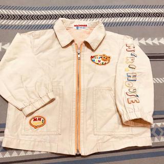 ミキハウス(mikihouse)のミキハウス レトロ ジップアップブルゾン 90size(ジャケット/上着)