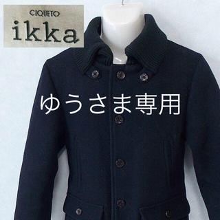 イッカ(ikka)の【ikka】 美品 イッカ ブラックブルゾン ウール75% サイズM(ブルゾン)