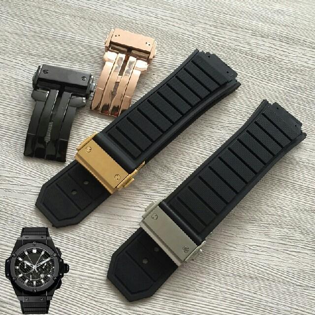 28mmウブロ向け 時計バンド 替えベルト 時計ベルト 社外品 バックル付き 腕の通販 by 中本 杏子's shop|ラクマ