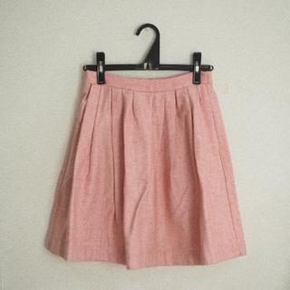 ミスティック(mystic)のmystic スカート ピンク ツイード(ひざ丈スカート)