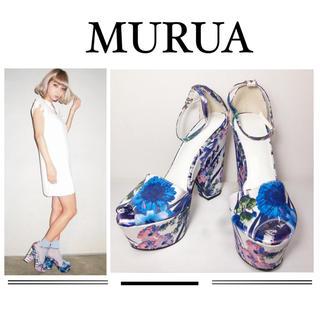 ムルーア(MURUA)のMURUA モダンフラワー サンダル 靴 パンプス♡エモダ エゴイスト(サンダル)