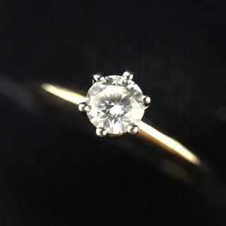 ティファニー(Tiffany & Co.)のティファニー K18 PT950 ダイヤモンド ソリティア リング 10号(リング(指輪))