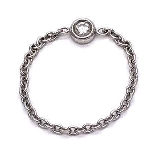 クリスチャンディオール(Christian Dior)のディオール ミミウィ ダイヤ リング 8号 18Kホワイトゴールド(リング(指輪))