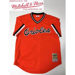 ミッチェルアンドネス(MITCHELL & NESS)のmitchell&ness ミッチェル&ネス オリオールズ ベースボールシャツ(ジャージ)