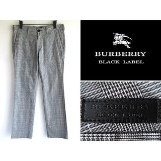 バーバリーブラックレーベル(BURBERRY BLACK LABEL)の希少 バーバリーブラックレーベル グレンチェック ストレッチパンツ 76(その他)