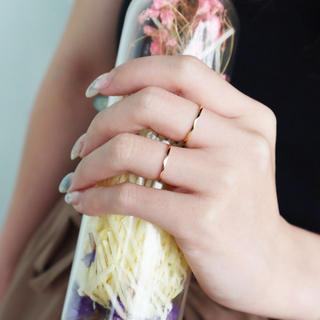 リング ピンキーリング ステンレス 低アレルギー 傷つきにくい シンプル (リング(指輪))