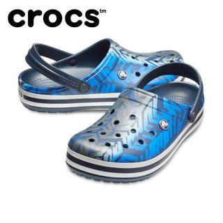 クロックス(crocs)のクロックス 28cm ブルー ブラック グラフィック ビーチサンダル(サンダル)