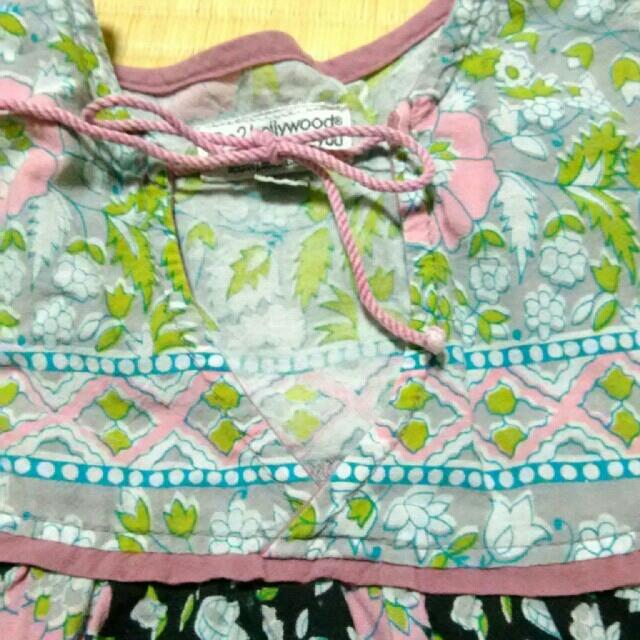 GO TO HOLLYWOOD(ゴートゥーハリウッド)のgo2hollywood  フラワートップス 100 レトロ アンティーク キッズ/ベビー/マタニティのキッズ服女の子用(90cm~)(Tシャツ/カットソー)の商品写真