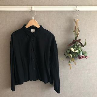 ハレ(HARE)のHARE ハレ バックレースアップシャツ ブラウス リボン アウター ブラック(シャツ/ブラウス(長袖/七分))