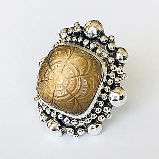 ドゥロワー(Drawer)の美品 スティーブンデュエック フローラルスモーキークォーツ シルバーリング(リング(指輪))
