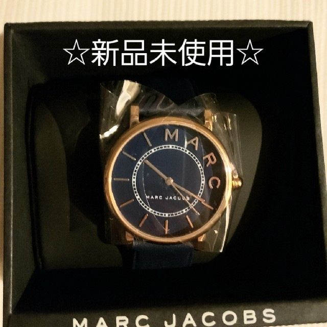 MARC JACOBS - ☆新品☆ネイビーのマークジェイコブスの腕時計の通販