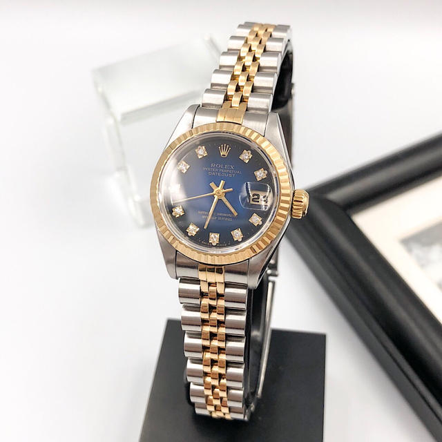 ROLEX - 【保証書付/仕上済】ロレックス 10P ダイヤ コンビ レディース 腕時計の通販 by LMC|ロレックスならラクマ