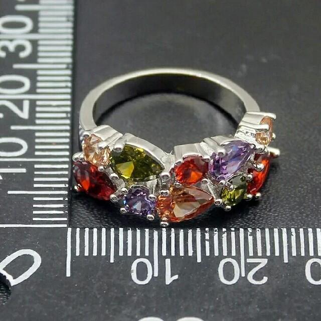 SWAROVSKI(スワロフスキー)の13~14号 スワロフスキークリスタルマルチカラーリング シルバー レディースのアクセサリー(リング(指輪))の商品写真
