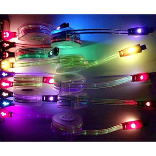 アイフォーン(iPhone)のニコちゃん LEDレインボーに光るiPhone USB ケース 充電ケーブル(バッテリー/充電器)