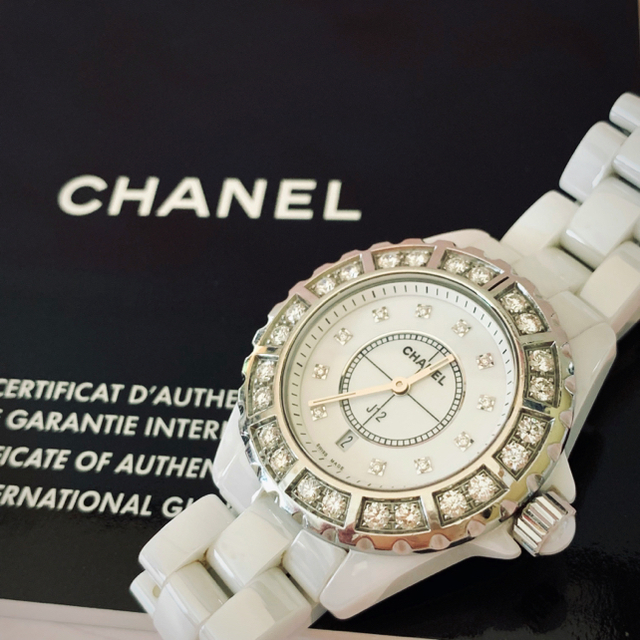 CHANEL - ★ CHANEL J12・ダイヤベゼル11P/white・希少・レア ★の通販 by ★☆🐾 peko's shop 🐾 ☆★|シャネルならラクマ