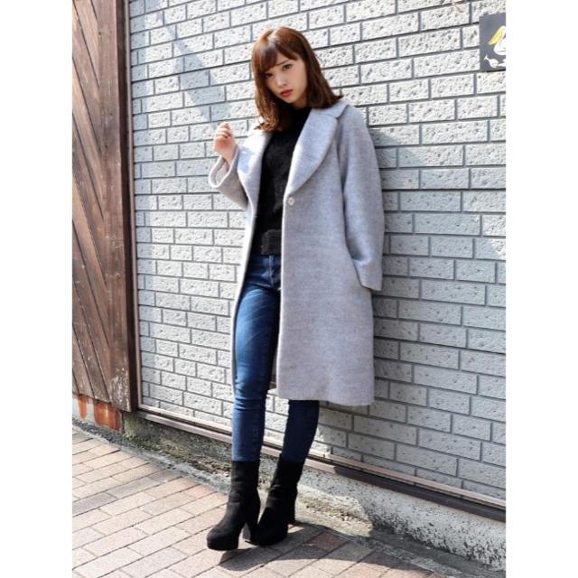 dazzlin(ダズリン)のシャギーミディアムコート レディースのジャケット/アウター(チェスターコート)の商品写真