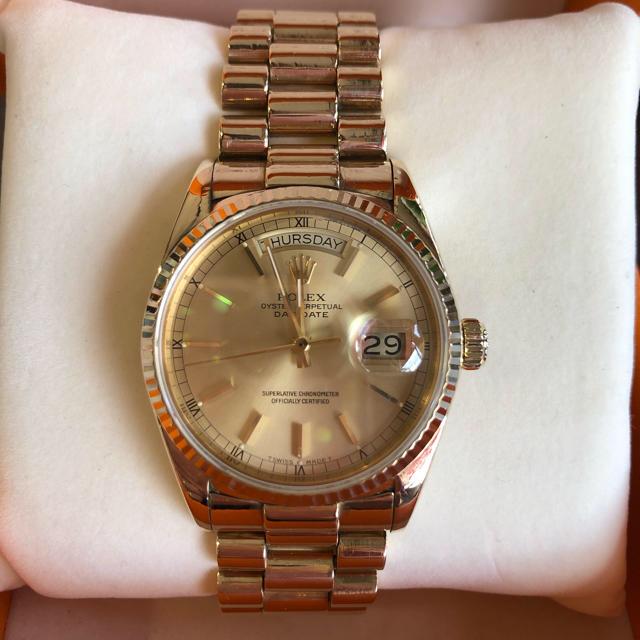 ROLEX - ROLEX デイデイト Ref.18038 OH済 メンズ 腕時計の通販 by ジュエリー工房アイランド's shop|ロレックスならラクマ