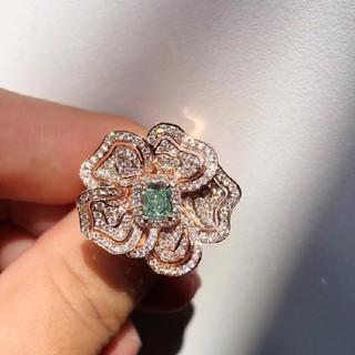 GIA♡L.Greenダイヤモンドリング(リング(指輪))