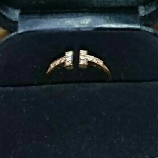 ティファニー(Tiffany & Co.)のティファニー☆Tワイヤーダイヤモンドリング美品(リング(指輪))
