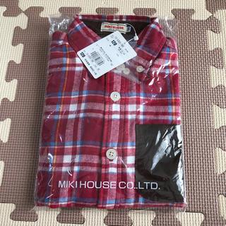 ミキハウス(mikihouse)の新品 ミキハウス 120 チェックシャツ(ジャケット/上着)