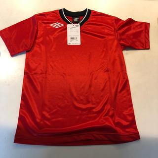 アンブロ(UMBRO)のアンブロ 150 プラクティスシャツ ジュニア レッド 新品(Tシャツ/カットソー)