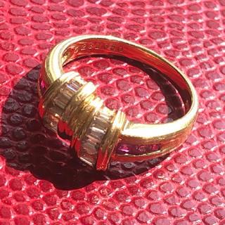 ジュエリーマキ(ジュエリーマキ)のK18ルビーとダイヤのリング(リング(指輪))