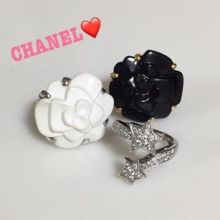 シャネル(CHANEL)の✨定508200✨シャネル カメリア オニキス×k18✨ファインジュエリーリング(リング(指輪))