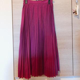シュープリームララ(Supreme.La.La.)のピンク プリーツスカート(ロングスカート)