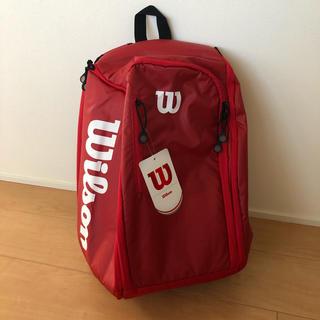 wilson - ウイルソン テニスバッグ  ツアーバックパック レッド 赤