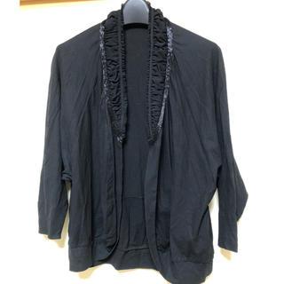 ツモリチサト(TSUMORI CHISATO)のツモリチサト ビーズ付 カーディガン 黒 羽織り ボレロ(カーディガン)