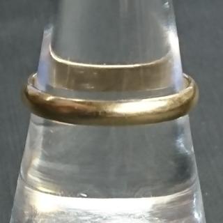 k18 甲丸リング ×2 18.5号&18号 (リング(指輪))
