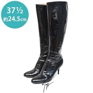 ジュゼッペザノッティ(GIUZEPPE ZANOTTI)の美品❤️ジュゼッペザノッティ エナメル ロングブーツ 37 1/2(約24.5(ブーツ)
